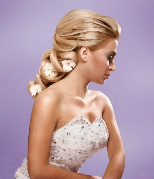 wedding long hairstyles Wedding  Half Up Half Down Finger Waves  More Ideas