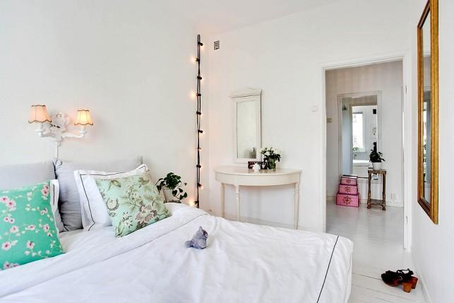 43m2 de estilo n rdico con toques vintage y color la for Habitaciones decoracion nordica