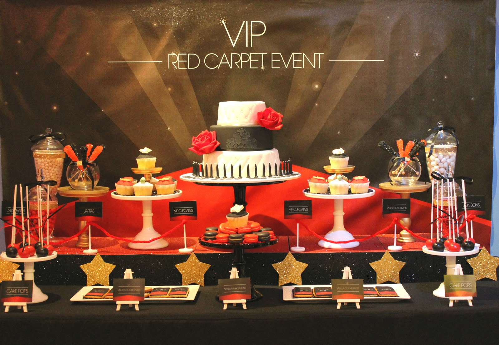 Events By Nat VIP Red Carpet Event Dessert Table