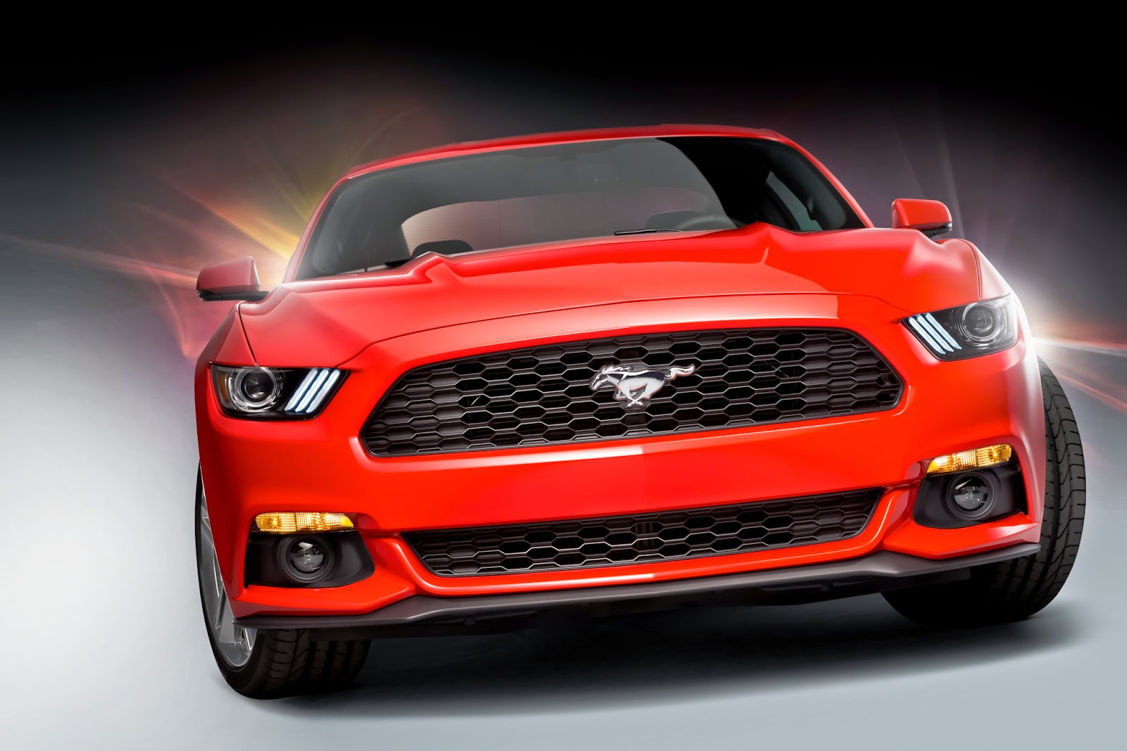 Red 2015 Ford Mustang Wide Wallpapers | Wallpaper Iku