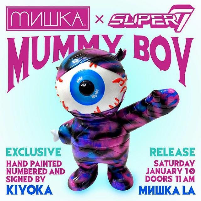 Mishka x Super7 Keep Watch Mummy Boy Hand Painted Vinyl Figure by Kiyoka