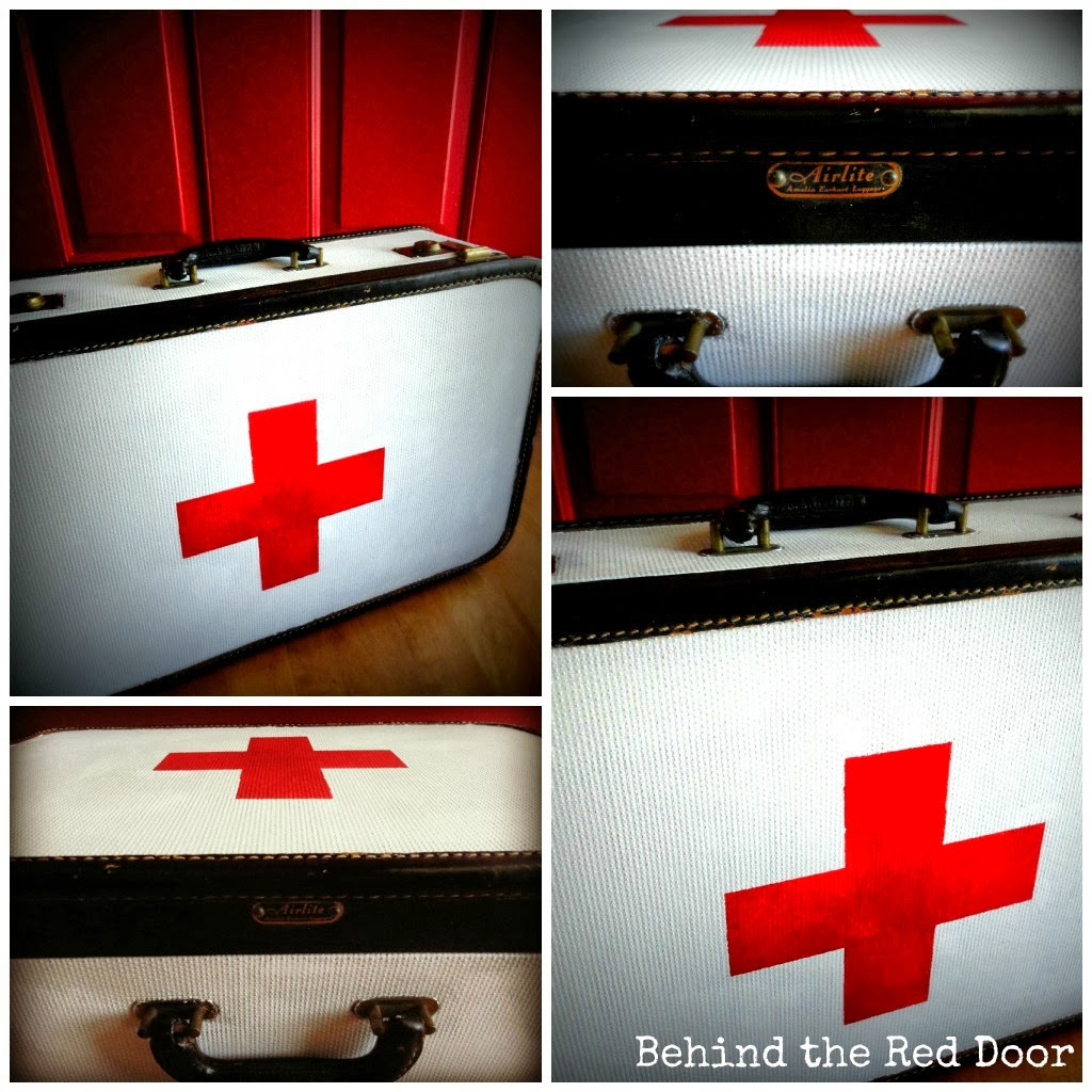 Red Cross Suitcase Tutorial