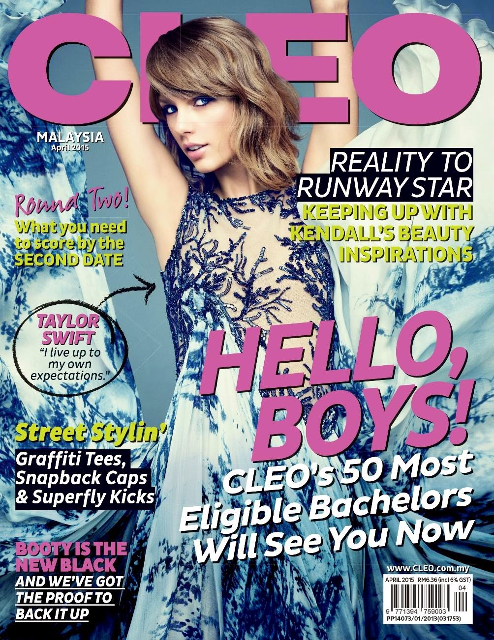 Singer, Actress, Fashion Model @ Taylor Swift - Cleo Malaysia, April 2015