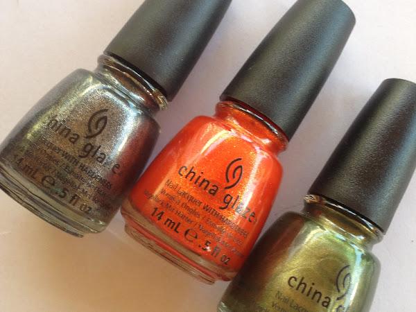 China Glaze - Stone cold, Agro & Riveting.