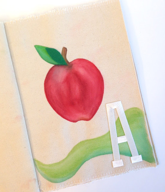 joy embroidered iron on letter apple lisa fulmer