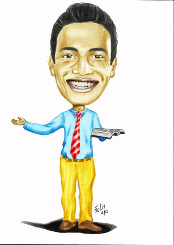 Caricatura de um homem colorida (desenho)