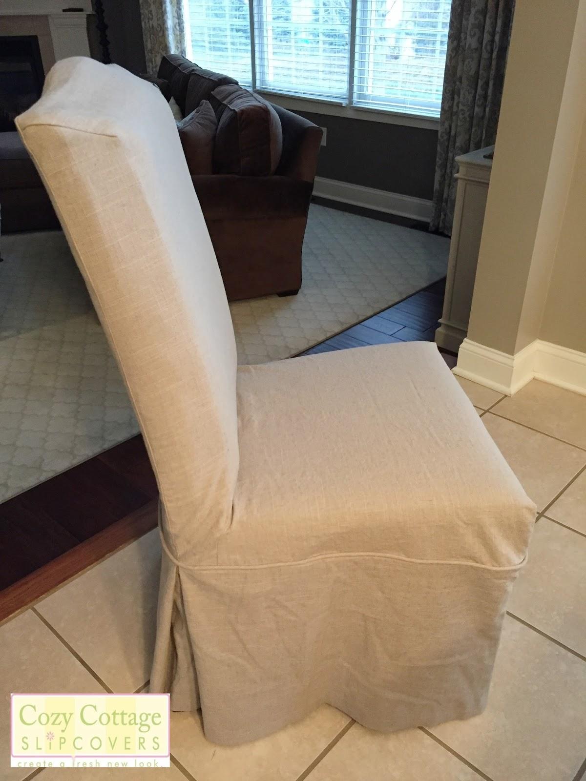 Linen Bar Stool Slipcover