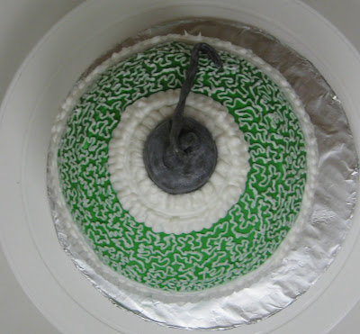 Christmas Ornament Cake - Overhead View