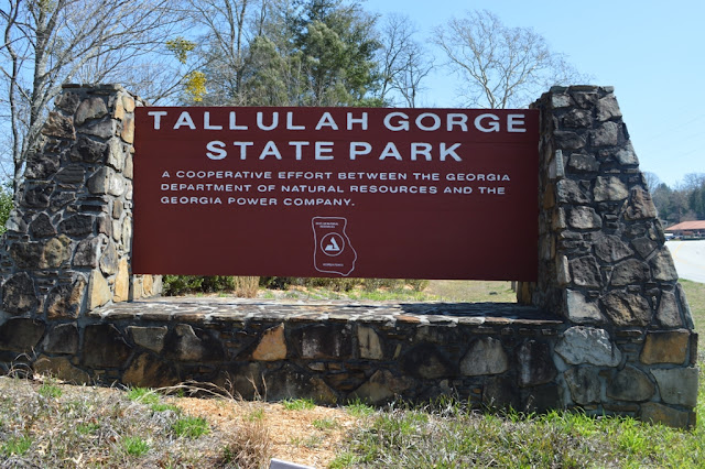 Tallulah Gorge sign - Tallulah Gorge - The City Dweller