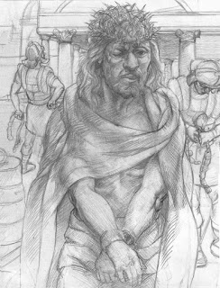 Crowning with Thorns. Pencil on paper. 9x12in. 2014