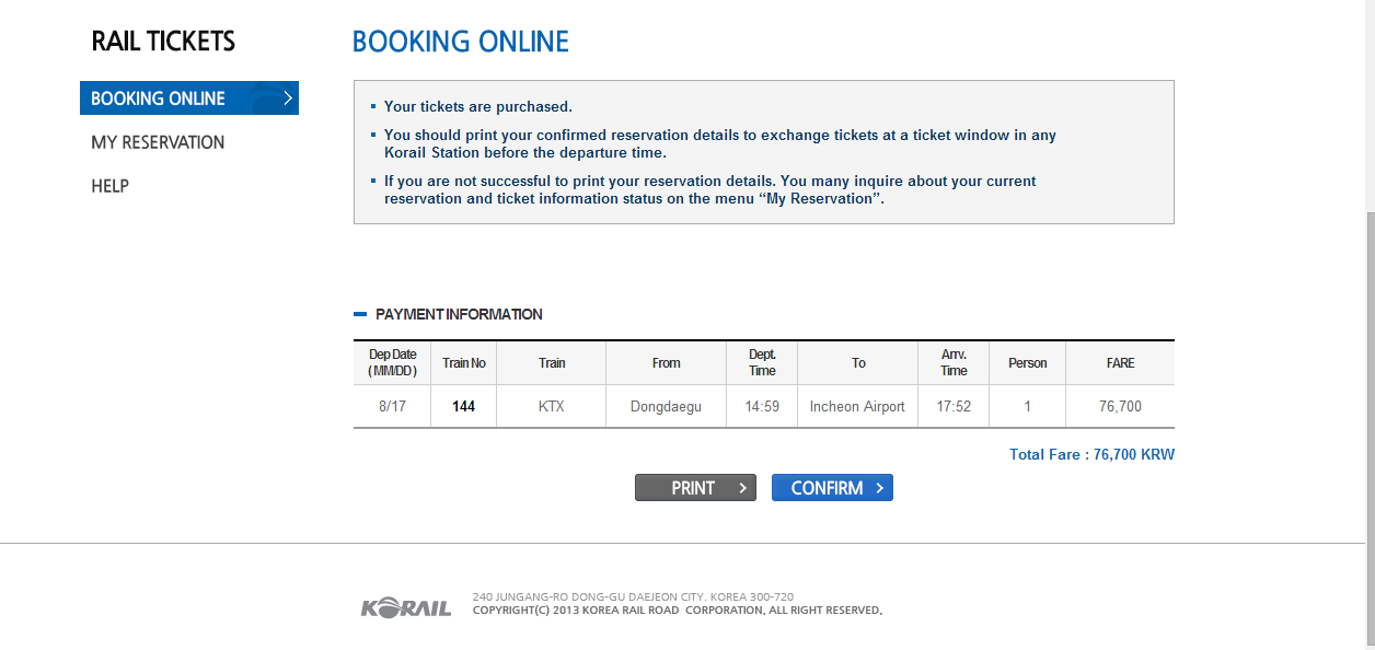 How to book KTX ticket on online