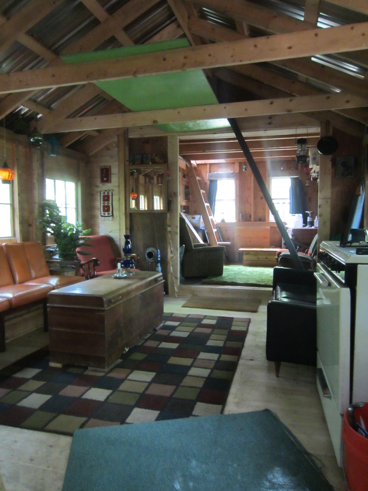 small cabin furniture. the land of misfit furniture my small cabin in woods vermont