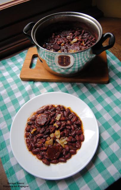 haricots rouges secs legumes recette cuisson chorizo
