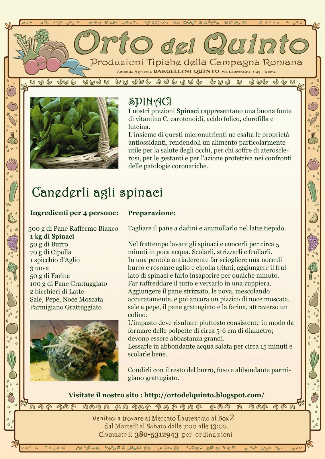 Orto del quinto cucinare gli spinaci for Cucinare spinaci