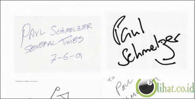 Meminta artis membuat tanda tangan dengan nama fans sendiri