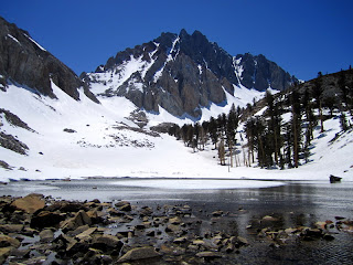 Split Mountain, as viewed from Little Red Lake.