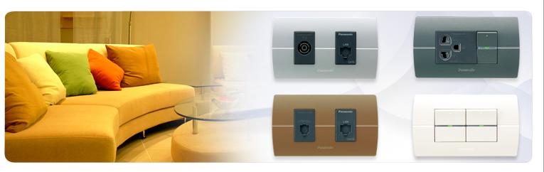 Thiết bị điện Panasonic góp phần tô điểm không gian sang trọng nhà bạn
