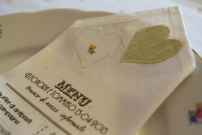 fabric wedding menu