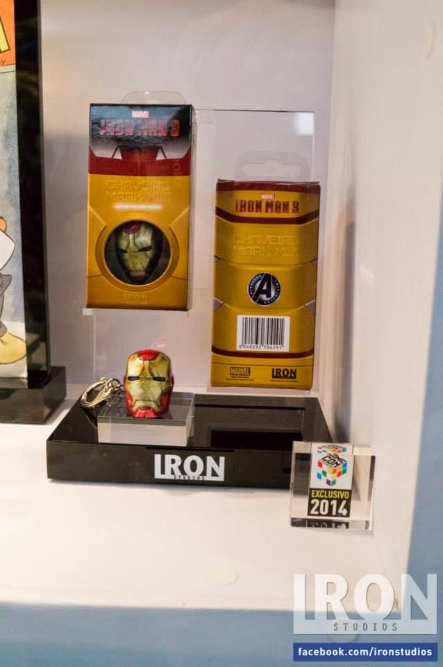Chaveiro Homem de Ferro Exclusivo Iron Studios Comic Con Experience