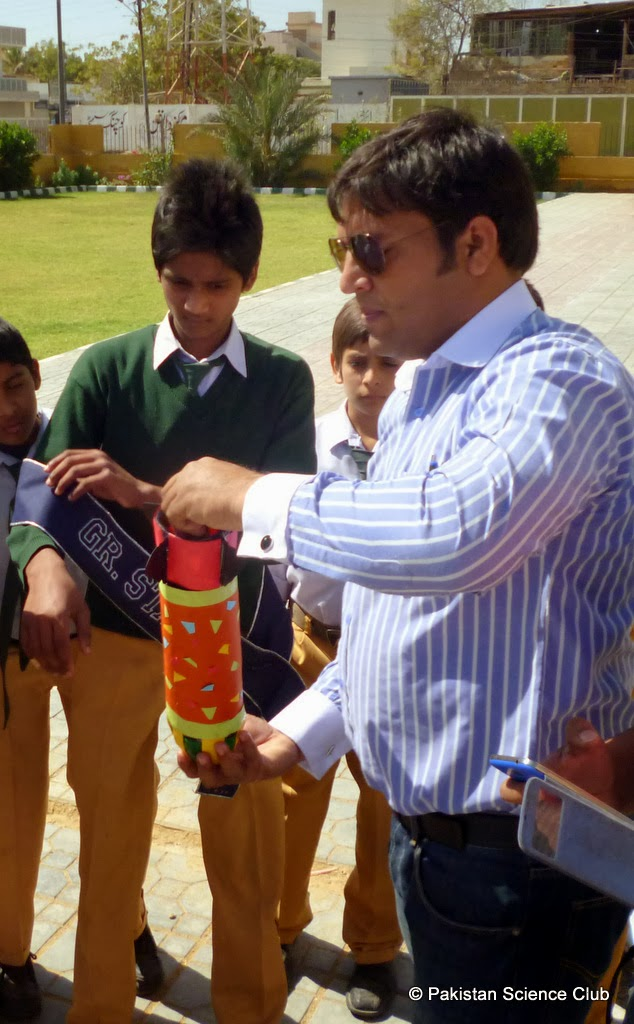 Inter school water rocket competition