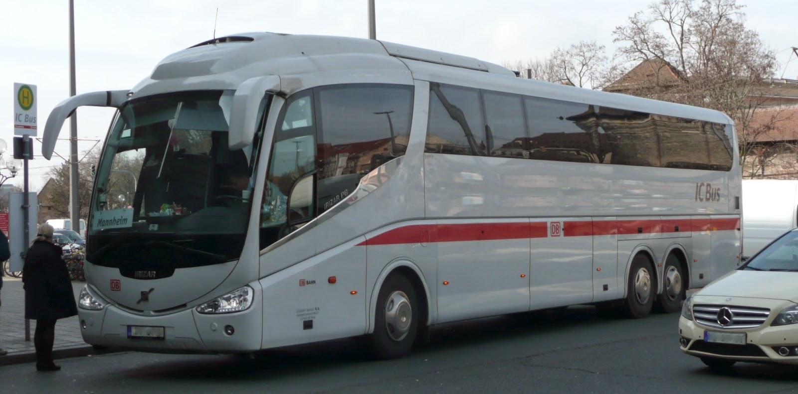 unterfrankes welt db ic bus in n rnberg vor dem hbf. Black Bedroom Furniture Sets. Home Design Ideas