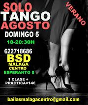 SOLO TANGO EXPRESS, 5 DE AGOSTO EN BSD BAILAS SOCIAL DANCE MÁLAGA CENTRO.