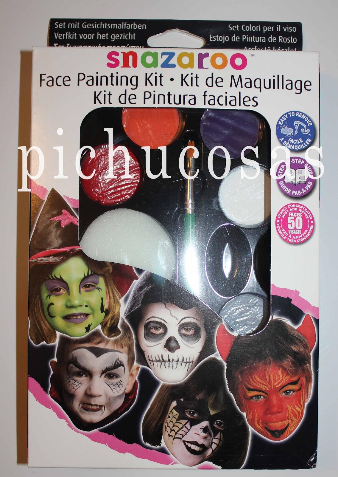 Pichucosas kit de pinturas faciales especial halloween - Pinturas para halloween ...