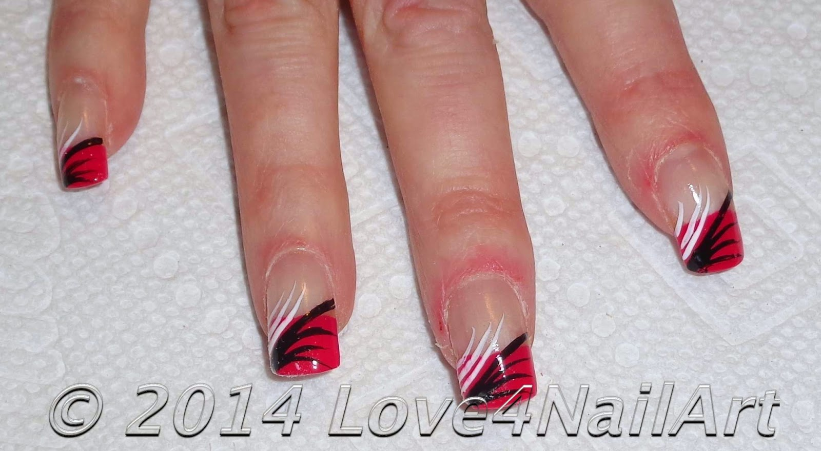 Simple Line Nail Art : Love nailart easy nail art for beginners simplistic