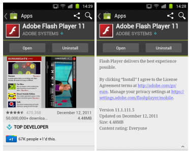 adobe flash player settings android apk