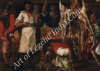 "The Great Artist – Annibale Carracci Painting ""The Butcher's Shop c.1582-3 75""X107"" Christ Church, Oxford"""