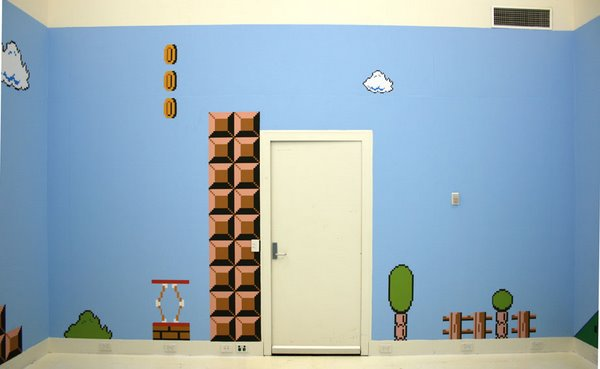 Habitaciones al estilo de Mario Bros, muy geek ...