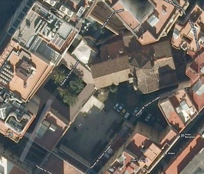 Aerial view of Santa Anna gothic church