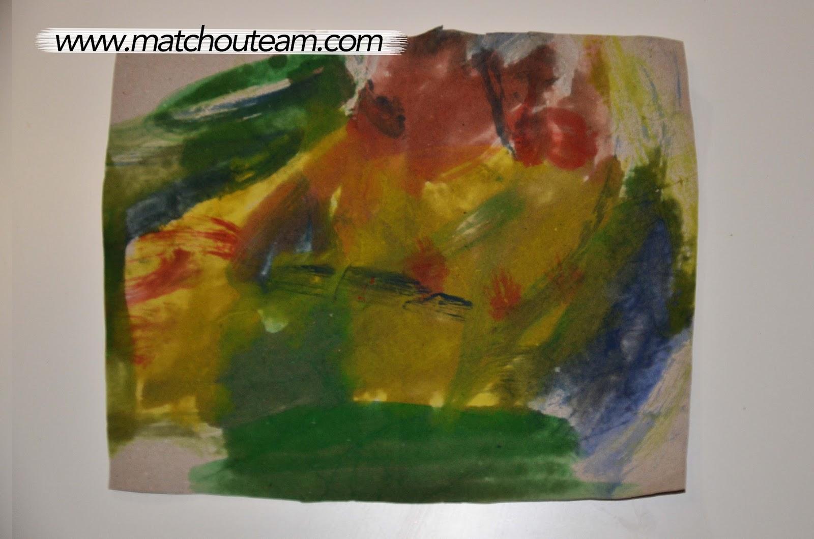 Ma tchou team masque empreinte de main - Peinture main enfant ...
