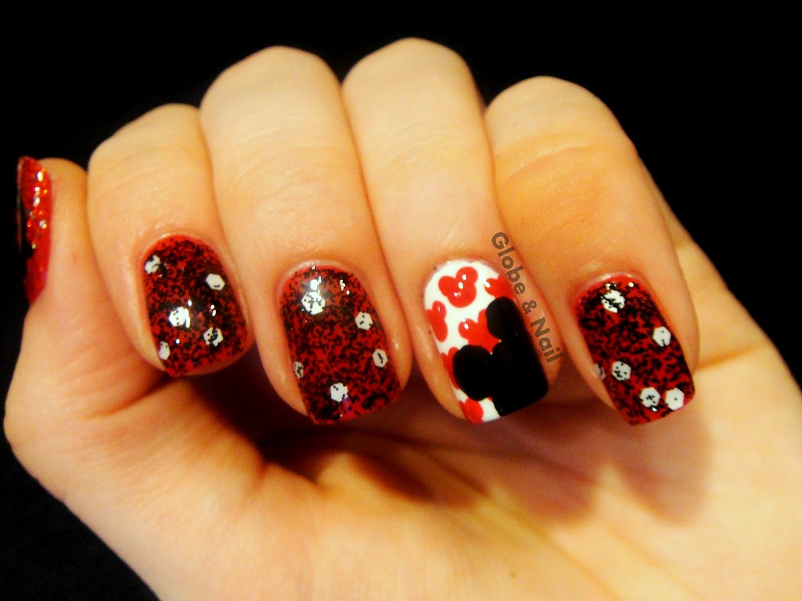 Globe Nail Mickey Mouse Nail Art