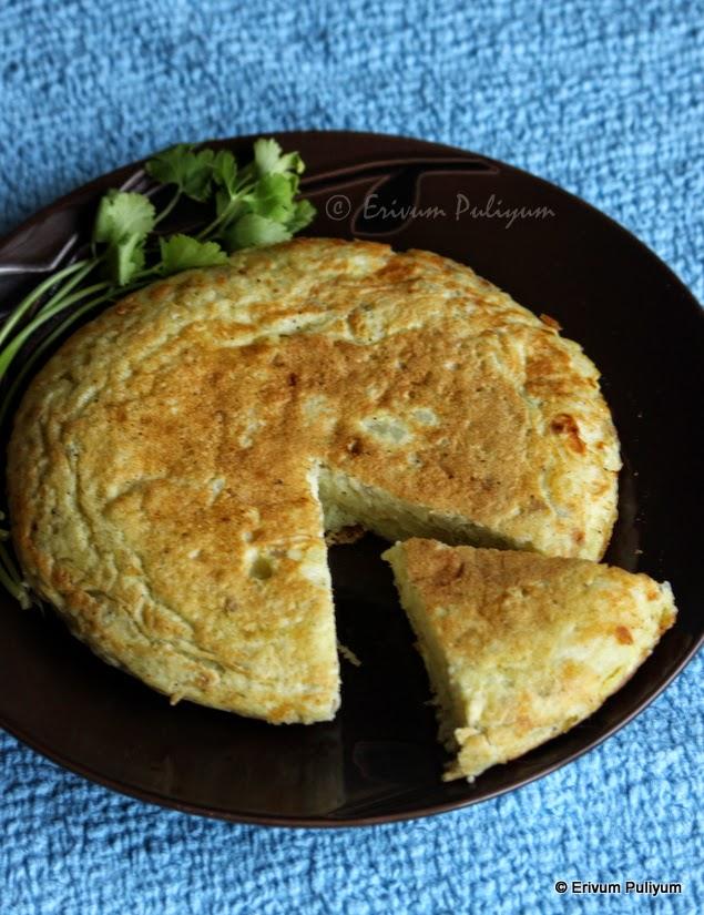 Spanish Potato Omelette | Tortilla Espanola | Tortilla De Patata