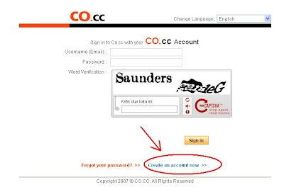 Cara Mendaftar Di co.cc