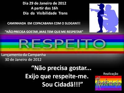 """LANÇAMENTO: """"CAMPANHA RESPEITO"""" 30 DE JANEIRO DE 2012"""