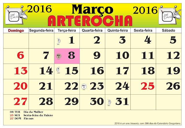 Calendario Ano 2016 | Calendar Template 2016