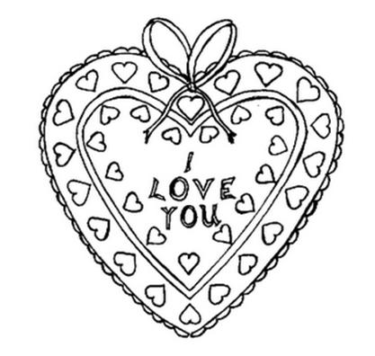 Corazon I love you para colorear,Dibujo de san valentin de los ...