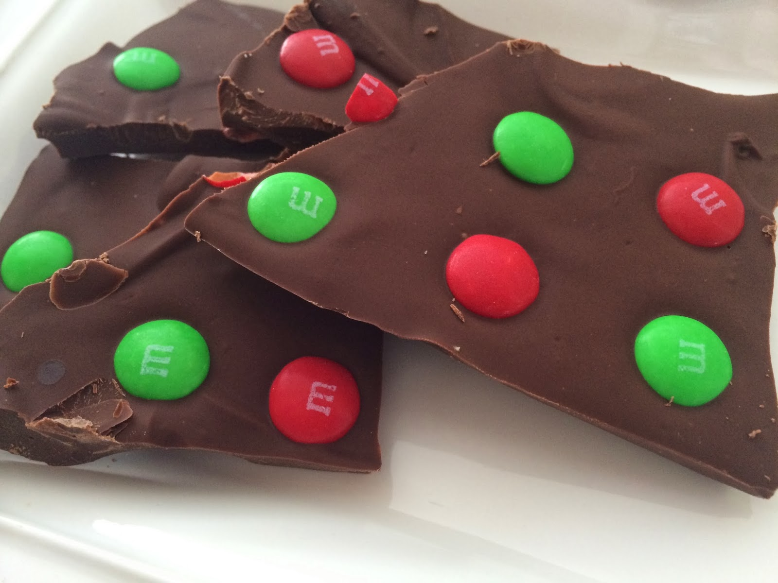 M&M'S Bark from Top Ate on Your Plate
