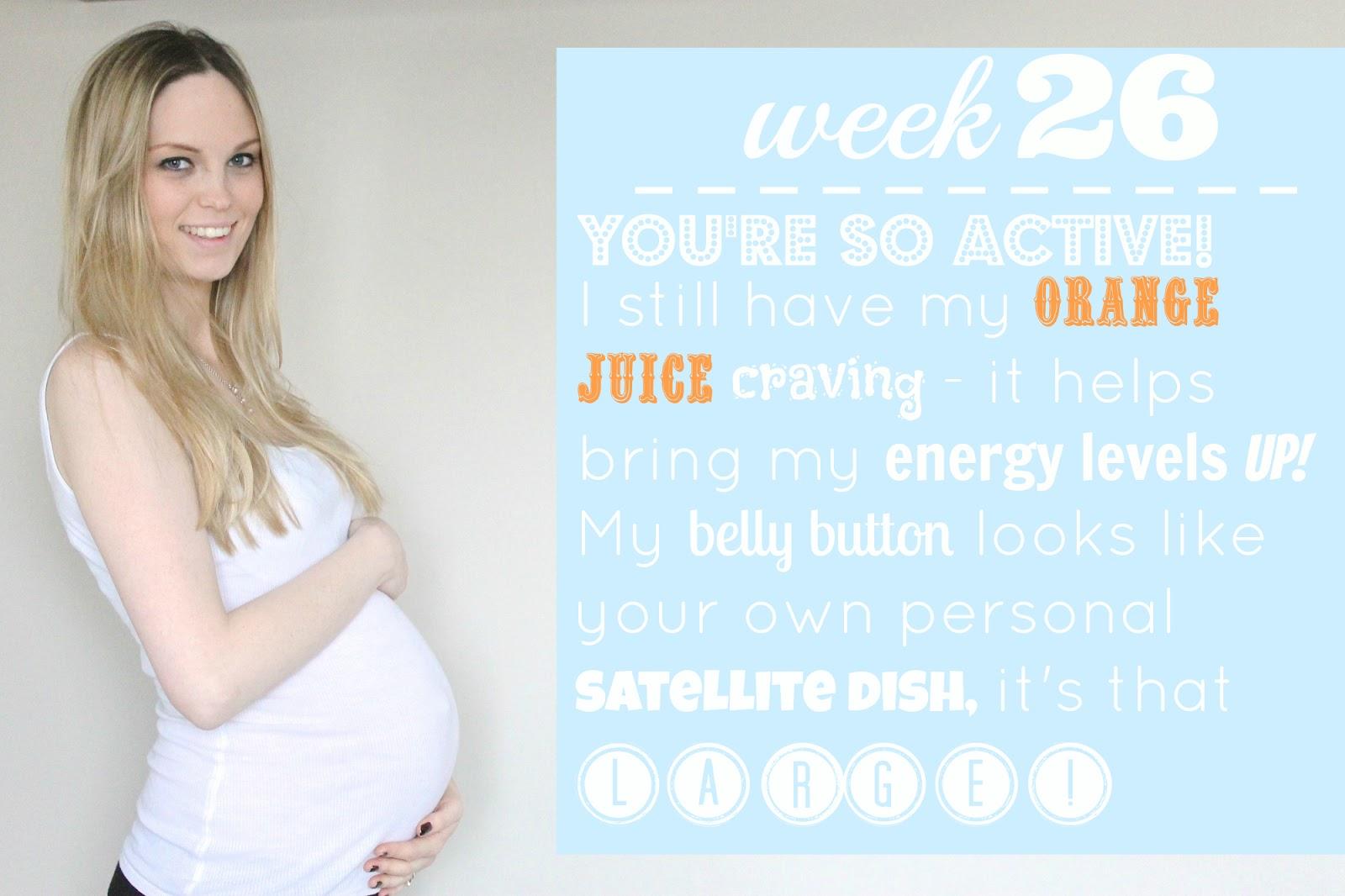 26 weeks pregnant,