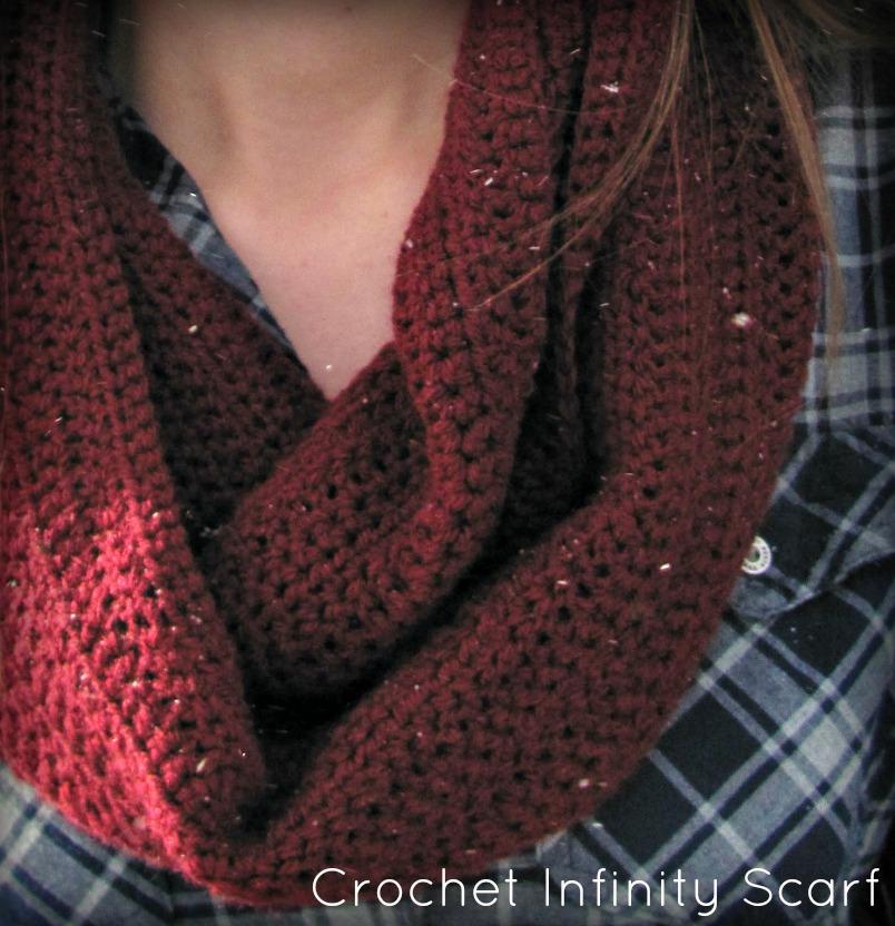 half double: Crochet Infinity Scarf