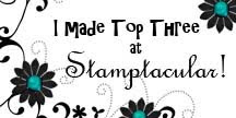 Honoured to be top 3 at Stamptacular Sunday