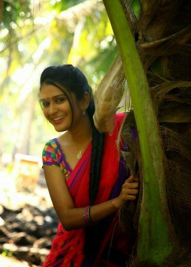Actress Sruthi Varma Stills in Red Half Saree