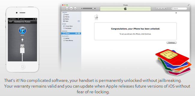 FACTORY Unlock Via iTunes