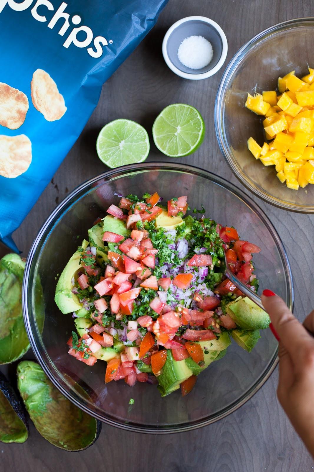 Mango Guacamole w/ popchips / blog.jchongstudio.com