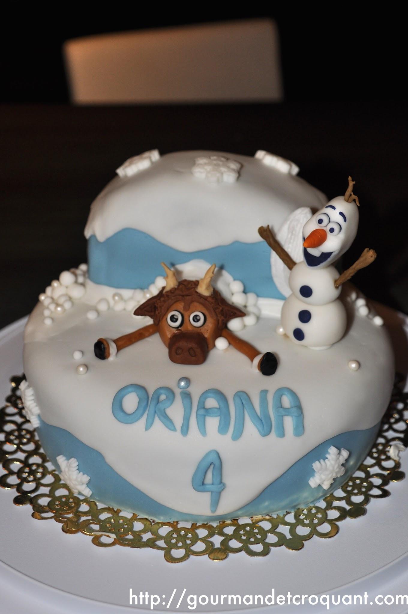 Gourmand et croquant g teau d 39 anniversaire la reine des neiges - Gateau reine des neiges tuto ...