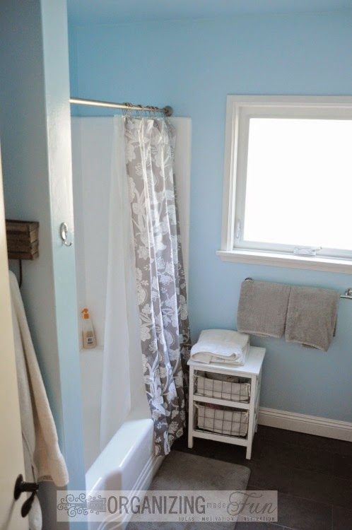 Reglazed bathtub and surrounding tiles :: OrganizingMadeFun.com