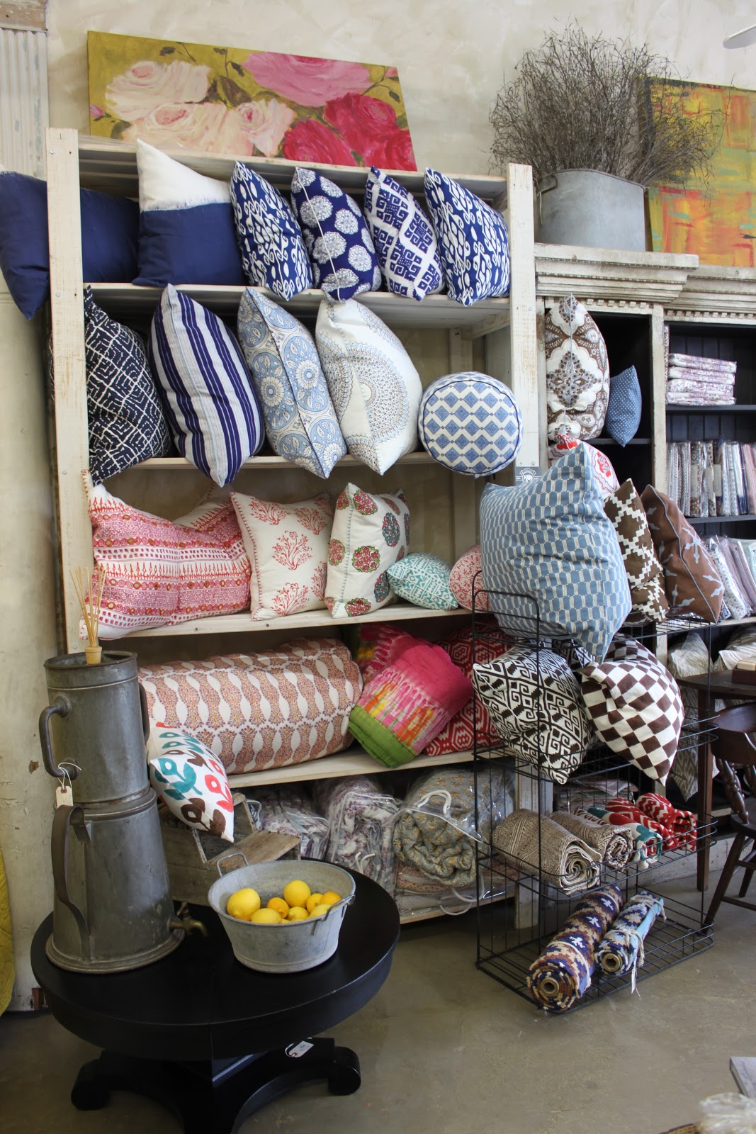 we are fully loaded with john robshaw pillows and his fabulous bedding line his style is so versatile and fun