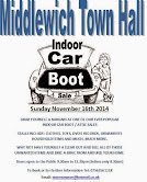 INDOOR CAR BOOT SALES AT THE TOWN HALL